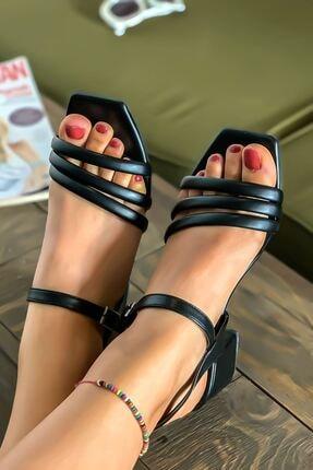 Lal Shoes & Bags Kadın Siyah Biyeli Klasik Topuklu Ayakkabı 0