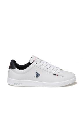US Polo Assn FRANCO 1FX Beyaz Erkek Sneaker Ayakkabı 100910268 1