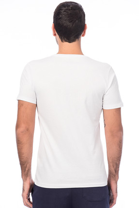 New Balance Erkek T-shirt - -V-MTT620-WT 1