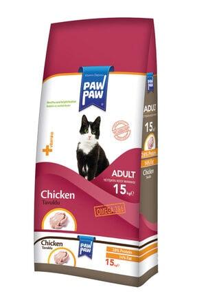 Paw Paw Chicken Tavuk Etli Yetişkin Kedi Maması 15 Kg 0