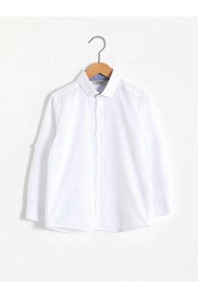 LC Waikiki Erkek Beyaz Düz Gömlek 0