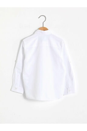LC Waikiki Erkek Beyaz Düz Gömlek 1