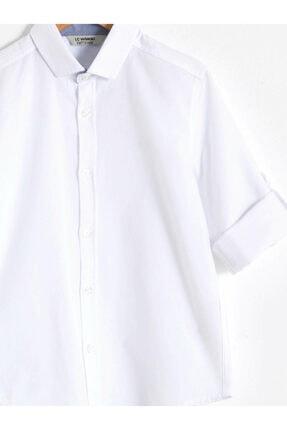 LC Waikiki Erkek Beyaz Düz Gömlek 2