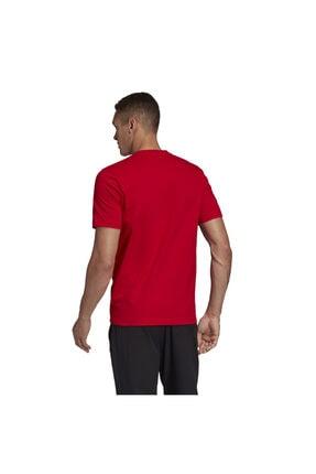 adidas Erkek Kırmızı T-shirt Fm6214 2