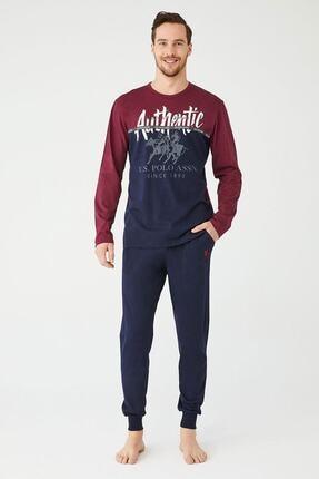 US Polo Assn Erkek Sari Yuvarlak Yaka Pijama Takım 0