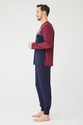 US Polo Assn Erkek Sari Yuvarlak Yaka Pijama Takım 1