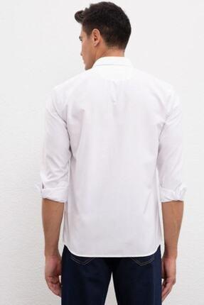 US Polo Assn Erkek Beyaz Uzun Kollu Gömlek 2