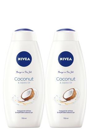 Nivea Coconut 750 ml Duş Jeli x2 0