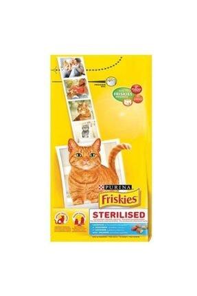 Friskies Sterilised Somonlu Kısırlaştırılmış Kedi Maması 10 kg 0