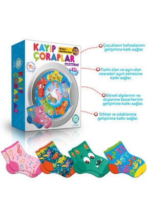 zekaoyunkitap Circle Toys Kayıp Çoraplar Eşleştirme Kart Oyunu 3