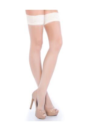 Penti Kadın Beyaz Fantezi Jartiyer Çorabı 0