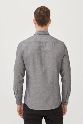 Avva Erkek Antrasit Oxford Düğmeli Yaka Regular Fit Gömlek E002000 2