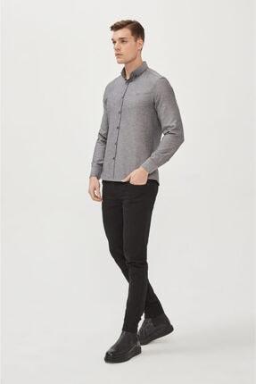 Avva Erkek Antrasit Oxford Düğmeli Yaka Regular Fit Gömlek E002000 4