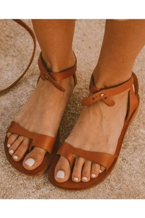 Kadın Kahverengi Sandalet TYC00093947344