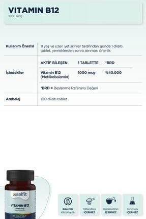 Eczacıbaşı Selfit B12 Vitamin 1000 Mcg 100 Dilaltı Tablet 2