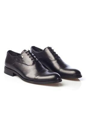 MARCOMEN Siyah Hakiki Deri Bağcıklı Erkek Klasik Ayakkabı • A19eymcm0022 1