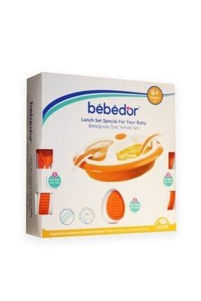 Bebek Yemek Seti (Bebek Tabağı Ve Çatal Kaşık) Isı Koruyan Turuncu 6+ bebtrnc