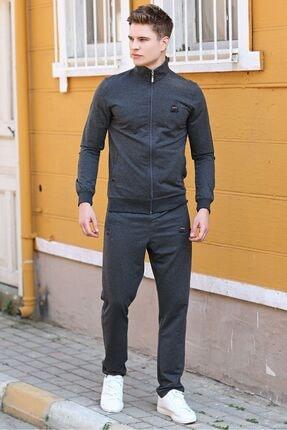 تصویر از Erkek Dik Yaka Fermuarlı Slim Fit Klasik Paça Eşofman Takımı-85072