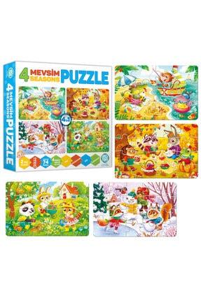 zekaoyunkitap Circle Toys 4 Mevsim Puzzle (12-16-20-24 Parça) 1