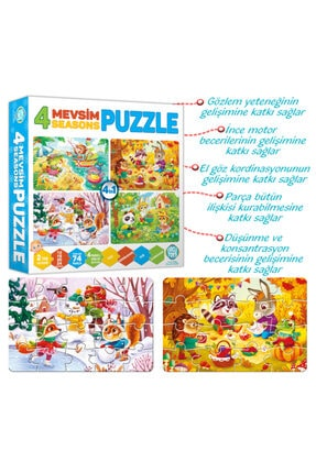 zekaoyunkitap Circle Toys 4 Mevsim Puzzle (12-16-20-24 Parça) 3