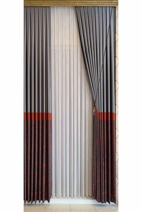 ÇEYİZMARKET Düz Zincir Çizgili (Makarna) Tül Perde Pilesiz Extraforlu Düz Dikim 0
