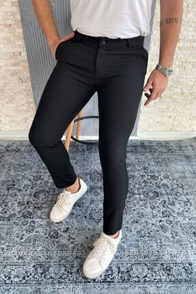 VİP LOKAL Erkek Siyah Kumaş Pantolon 0