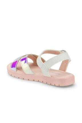 Polaris 512475.P Beyaz Kız Çocuk Sandalet 100499826 2