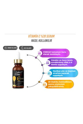 Carino E Bella C Vitamini Serum %20 Black 30 ml 2