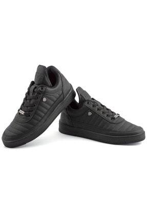 L.A Polo Erkek  Dikişli Siyah  Sneaker 07 2