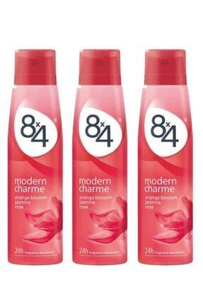 8x4 Modern Charme Kadın Deo Sprey 150 ml X 3 Adet 0