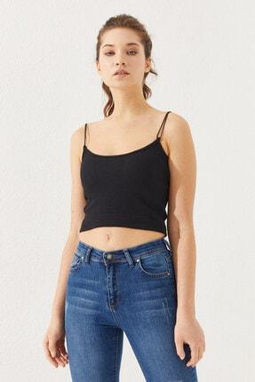 Reyon Kadın Ip Askılı Bluz Siyah 0