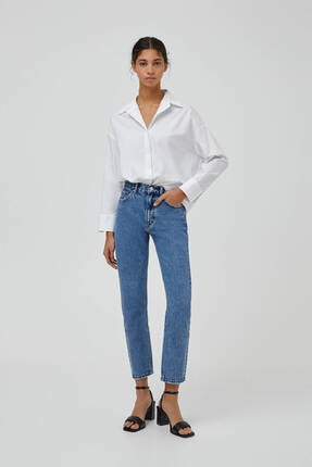 Pull & Bear Mom Fit Basic Jean 0