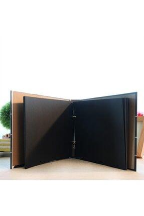 E-Hediyeci Klaket Özel Tasarım Siyah Yapraklı Fotoğraf Albümü 1