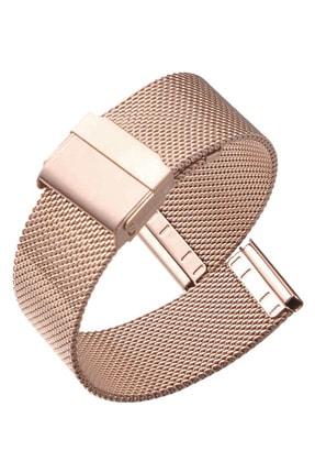 Trendburada Samsung Galaxy Watch 3 41mm Saat Uyumlu Rosegold Renk Paslanmaz Çelik Hasır Saat Kordonu 1