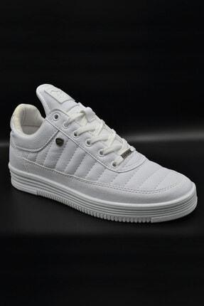 L.A Polo 07 Beyaz Beyaz Dikişli Taban Unisex Spor Ayakkabı 0