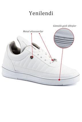 L.A Polo 07 Beyaz Beyaz Dikişli Taban Unisex Spor Ayakkabı 4
