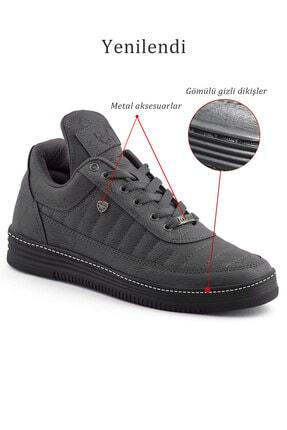 L.A Polo 07 Füme Siyah Dikişli Taban Unisex Spor Ayakkabı 4