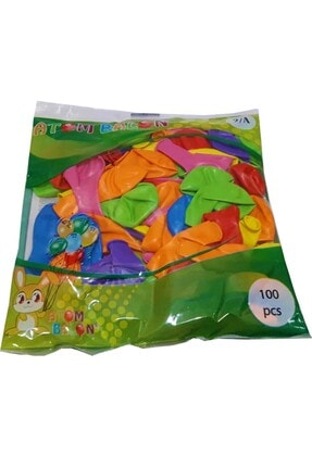 Atom Renkli Balon 100 Adet 1