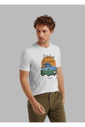 Aventura Clothing Co %100 Pamuk, Regular Fit, Bisiklet Yaka, Baskılı Tshirt - Good Vibes Only 4 1