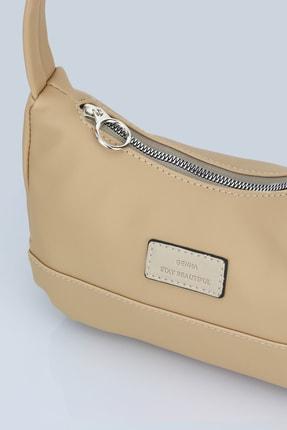 Housebags Kadın Krem Baguette Çanta 3