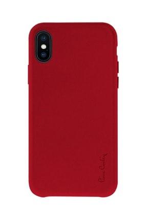 Iphone X - Xs Kırmızı Imzalı Suni Deri Kılıf PC660027