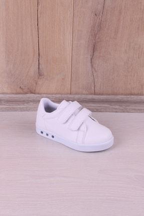 Kidya Erkek Çocuk Beyaz Anatomik Işıklı Spor Ayakkabı 0