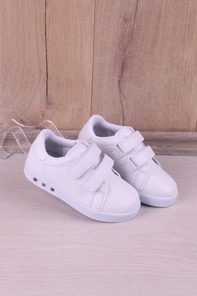 Kidya Erkek Çocuk Beyaz Anatomik Işıklı Spor Ayakkabı 1