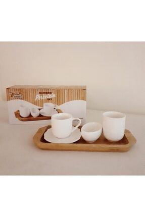 PANALI Bambulu Tek Kişilik Porselen Fincan 0