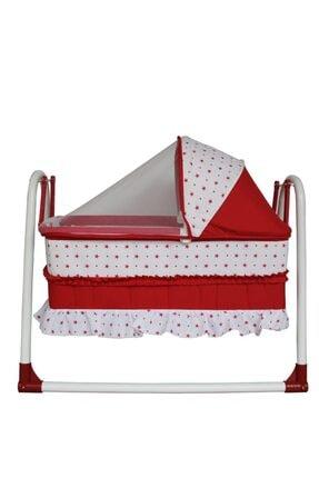 bebegen Elit Portatif Sallanır Bebek Beşik Kırmızı 2