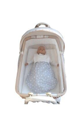 bebegen Elit Portatif Sallanır Bebek Beşik Kahve 3