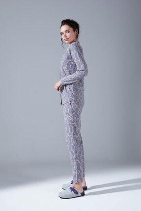 Mizalle Içi Şardonlu Penye Pijama Takımı (Çiçekli) 1