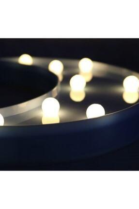 ErdemShop Led Işıklı Beyaz Yıldız Star Masa Duvar Gece Lambası 3d 3