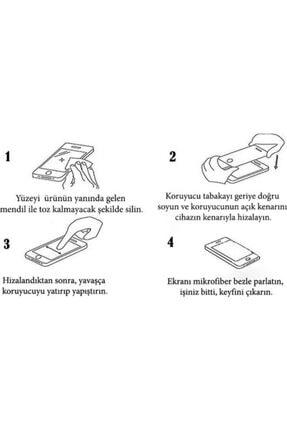 Fibaks Redmi Note 8 9h Uyumlu Temperli Kırılmaz Cam Sert Şeffaf Ekran Koruyucu 4
