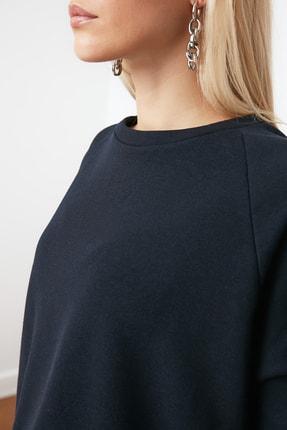 TRENDYOLMİLLA Lacivert Basic Örme Sweatshirt TWOAW20SW0055 3